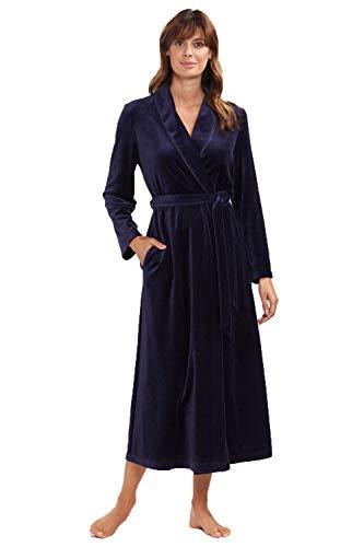Damen Bademantel mit Schalkragen Nightblue 48