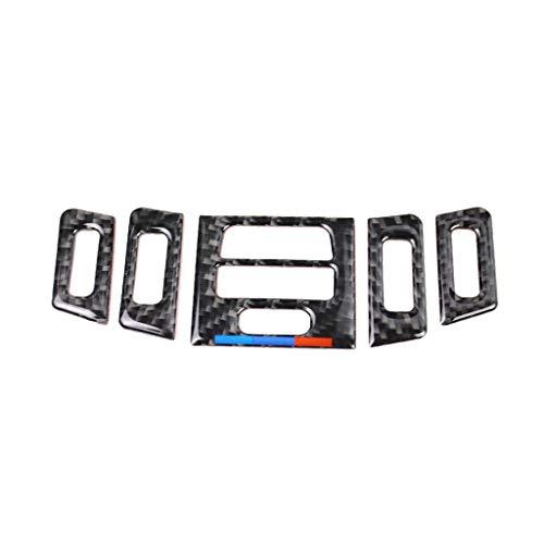 Aire acondicionado Ventilación Conjunto de 5 piezas Bajo M Estilo de la serie Mano izquierda Accesorios de estilo de fibra de carbono para BMW Old 3 Series Modificación de interiores E90 E92 320i 318i
