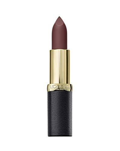 L'OREAL Unisex Lipstick Color Riche Matte Lippenstift 654 Bronze SAUTOIR, Negro, Standard