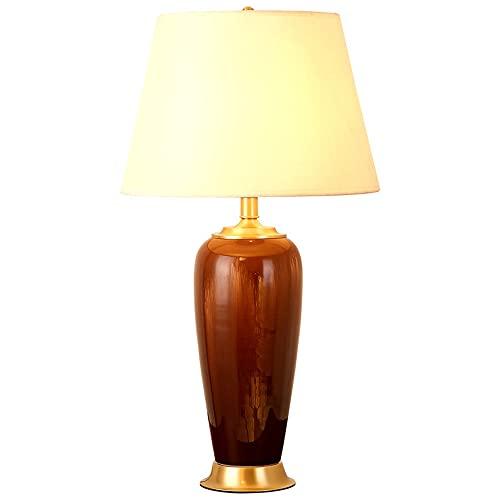 FAZRPIP Dormitorio Retro Americano Lámpara de Noche Horno Grietas Lámpara de Mesa de cerámica esmaltada Lámpara de Mesa de cerámica Moderna Luces de Navidad Escritorio de Oficina Lámpara de Mesa