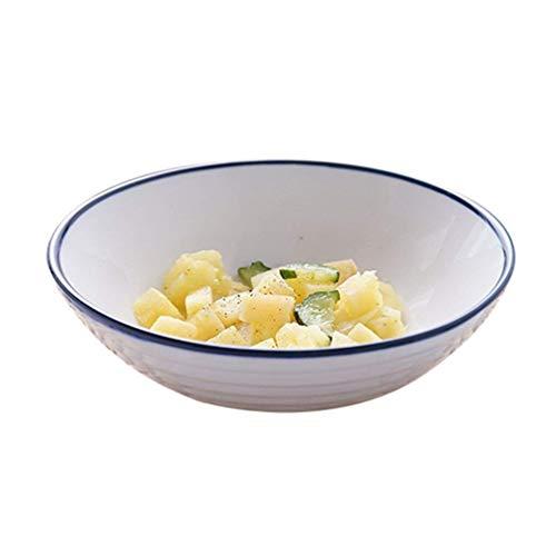 WEHOLY Abendessen weiße Schüssel für Suppe Reis Obst Salat Salat Nudel Geschirr liefert kreative 1,8-4,5 cm (Größe: 18 * 6CM)
