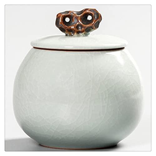 SKREOJF Retro Tea Caddy Cerámica PU Té Té Juego de Té Caja de Almacenamiento Caddy Caramelo Caramelo Recipiente Caja de Almacenamiento Pequeño Caja de Almacenamiento (Color : Style B)