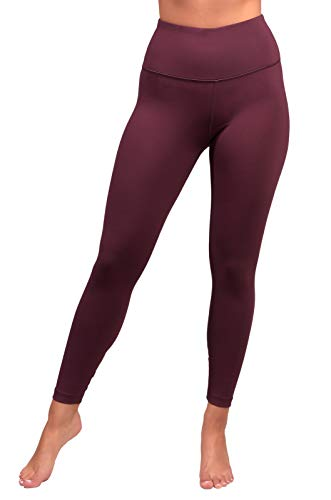 90 Degree By Reflex High Waist Fleece Lined Leggings - Yoga Pants - Cinnamon Cherry - XL