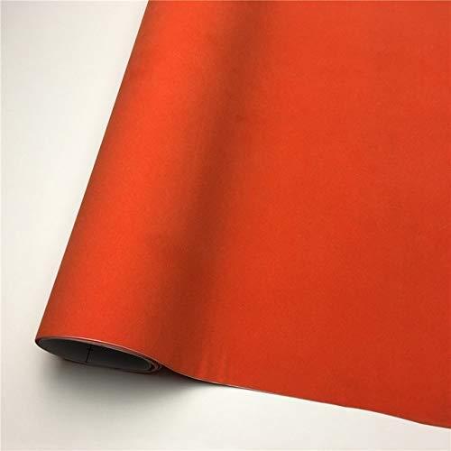 JiuRui DIY Verpackung Suede-Vinylverpackungs-Samt-Vinylverpackungs-Film Car Wrapping Blatt-Aufkleber Für Auto-Wraps Fahrzeug Aufkleber Console Computer-Haut (Color Name : Orange, Größe : 135X40 cm)