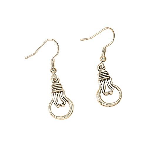 Pendientes de aro con pasador de bombilla de seguridad DUOYO, pendientes minimalistas, regalo de joyería personalizado para mujeres