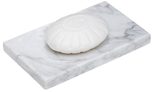 CraftsOfEgypt White Marble Soap Dish - Polished and Shiny Marble Dish Holder Beautifully Crafted Bathroom Accessory