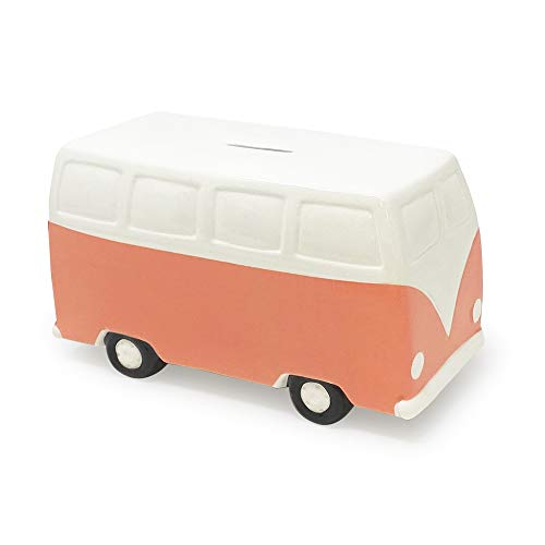 Isaac Jacobs - Hucha de cerámica retro para furgoneta, estilo vintage, decoración del hogar, regalo para niños, adolescentes y...