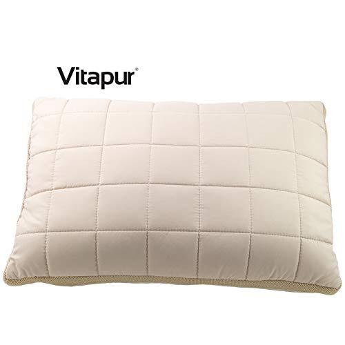 Vitapur Kopfkissen mit Hanffaser 50x70cm - Cannabis Schlafkissen mit Innovative Airflow Technologie - Extra Weich Polster für alle Schlafpositionen