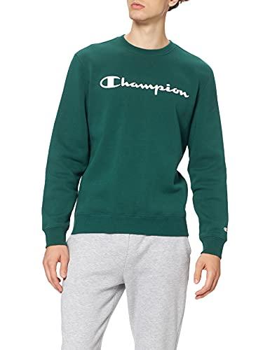 Champion Legacy Classic Logo Crewneck Maglione, Verde, M Uomo