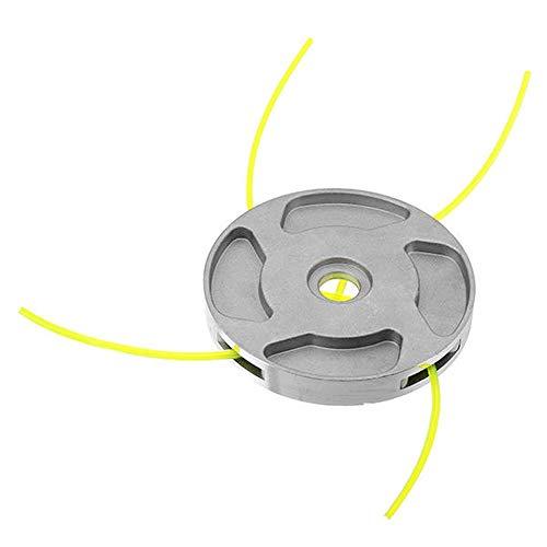 BESISOON Strimmer Head Cortador de Hierba Accesorios 110x15mm Cabezal de Corte de Hierba de Aluminio con 4 Hilos de Nylon for desbrozadora Strimmer reemplazo Líneas de cortadora de césped