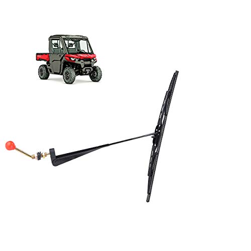 "Valchoose UTV Hand Operated Windshield Wiper 15.7"" Wiper Blades, Fiberglass Skeleton Manual Wiper Blades Fit Polaris Ranger RZR Kawasaki Honda Pioneer Golf Cart - Instruction Included"