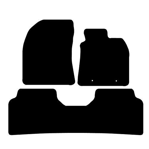 Carsio CARP-CUT-1287-(40 x 2) Alfombrillas para Toyota Avensis 2009-2011 – 3 Piezas con 2 Clips