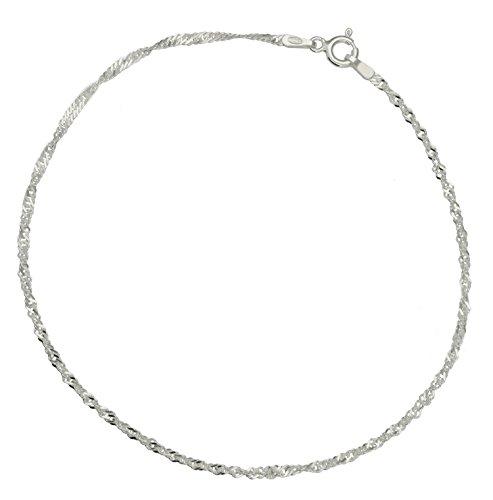 Bijoux pour tous BRS-K41092 - Tobillera de plata de ley sin gema