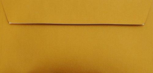 100 Din lang Briefumschläge Gold/Metallic Din lang 11 x 22 cm mit Haftstreifen, Grammatur 90 g/m²