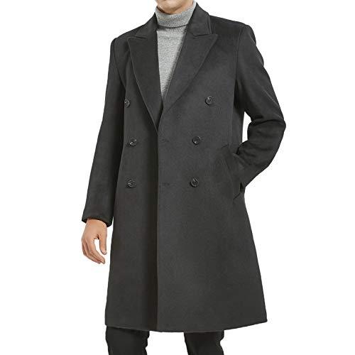 Airtailors Men's Slim Fit Tweed Suits Causal Vest Premium Wool Blend Waistcoat (Blue, US 46)