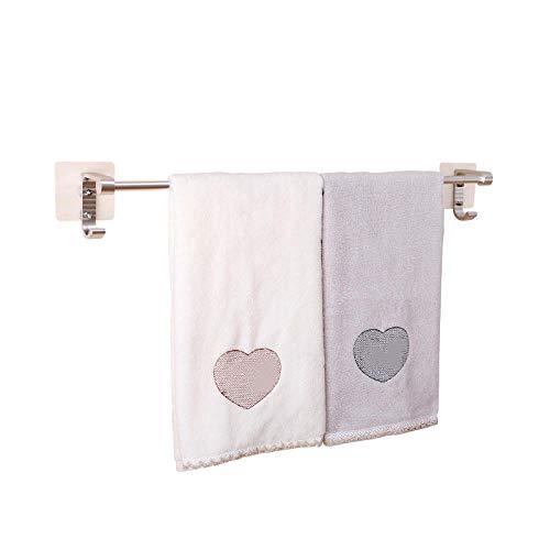 Ventosa adhesiva que no deja marcas 60 cm toallero estante de almacenamiento de toallas cocina baño soporte de pared