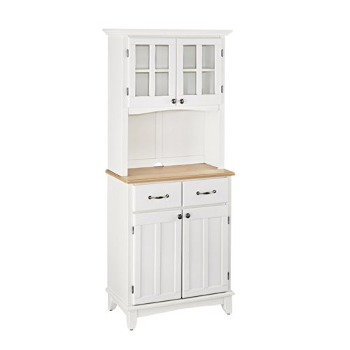 Buffet of Buffet White with Wood Top with Buffet by Home Styles