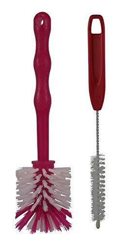 HG Verlag - Reinigungsset Spülbürsten Ideal für den Thermomix TM5 TM6 + TM31 sowie Mixertöpfe usw. (2X rot)