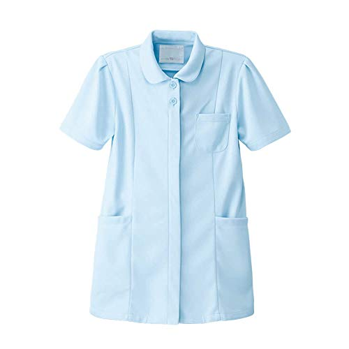 ナースリー 定番ジャケット 透け防止 ストレッチ 医療 看護 ナース 白衣 レディース LL サックス 897403A