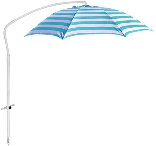 Al Aire Libre Paraguas Parasol, sombrilla, Paraguas Sombrilla Sombrilla for el Patio al Aire Libre Patio Colgando Mesa de Aluminio Sol (Color: Rayas Rojas, Tamaño: 2,15 m) ZDWN