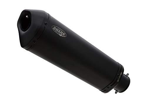 SHARK Auspuff DSX-10 Edelstahl schwarz-matt Versys 1000 LZT00A