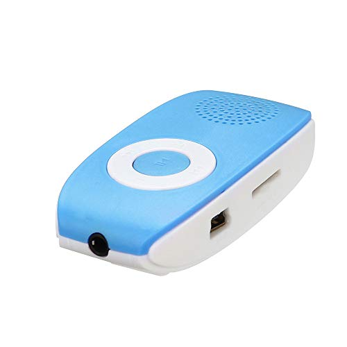 DEESEE(TM) New Clip USB MP3 Player Support SD TF Card 32GB Sport Music Media Built-in Speaker (Blue)