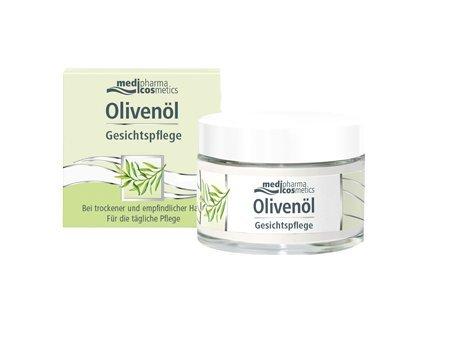 Olivenöl Gesichtspflege Spar-Set 2x50ml. Bei trockener und empfindlicher Haut. Für die tägliche Pflege. Mit kaltgepresstem Olivenöl der Extraklasse, Avocado-, Weizenkeim- und Mandelöl.