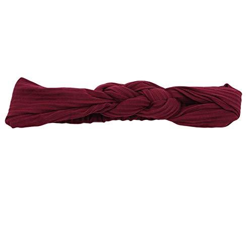 Majfk - Banda elástica para el pelo para mujer, color rojo