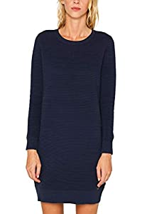 edc by ESPRIT Damen 099Cc1E006 Kleid, Blau (Navy 2 401), Large (Herstellergröße: L)
