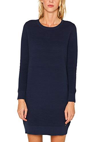 edc by ESPRIT Damen 099Cc1E006 Kleid, Blau (Navy 2 401), Small (Herstellergröße: S)