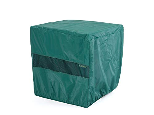 Covermates Square Dining Table Cover - Light Weight Material, Weather Resistant, Elastic Hem, Patio Table Covers - Green