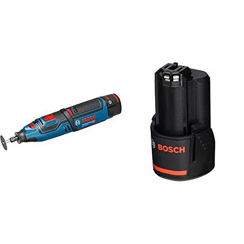 Bosch Akku-Drehmehrzweckwerkzeug GRO 12 V-Li, 06019C5000 + Bosch Professional 12 V Akku (GBA 2,0 Ah, 175 g Gewicht, kompatibel mit 12V) 1600Z0002X