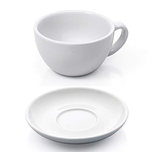 Gastro Spirit - 12-teiliges Cappuccino-Tassen/Kaffee-Tassen Set - Weiß, 200 ml, Porzellan, dickwandig, spülmaschinenfest