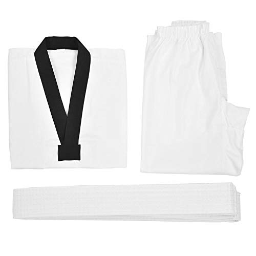 Alomejor Taekwondo Karate Uniform Jas Broek Wit Riem Comfortabel Volledig Katoen Taekwondo Pak Karate Uniform