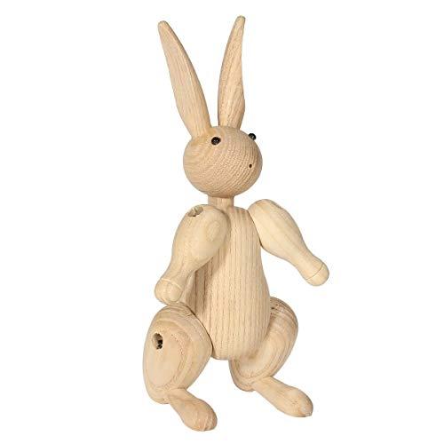 N\A DIY & EDC Multitools Tier-Kunst-Ausgangsdekoration Handwerk Holzschnitzerei Fräulein Kaninchen Figuren Gelenke Puppets Kinder Erwachsene