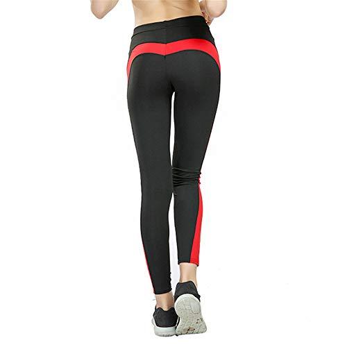 Pantalones de yoga para mujer, extra largos, sin costuras, de cintura alta, elásticos, para entrenamiento, gimnasio, correr, deportes, adelgazar pantalones activos (color: negro, tamaño: XL)