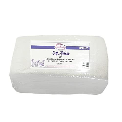 60 toallas desechables de papel seco plegadas para peluquería, peluquería, spa, cuidado de belleza