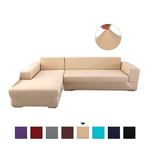 PETCUTE Sofabezüge Stretch Sofaschutz elastisch L-Form Sofa bezug ecksofa Sofabezug Sofaüberwürfe für L-Form Sofa