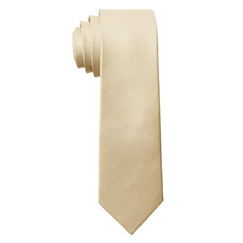 MASADA Herren-Krawatte von Hand gefertigt & sorgfältig verarbeitet 6 cm breit Beige