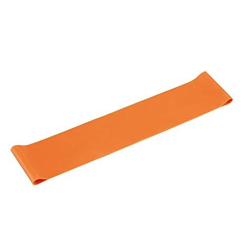 Cinturino di resistenza - Cintura in lattice elastico sano Anello di trazione Corda Resistenza Fascia di resistenza Allenamento muscolare Espansore Yoga Attrezzature per il fitness - Arancione