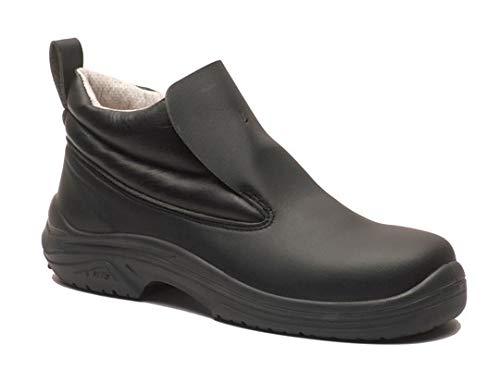 MTS 872636 Leos+ Model 414 Safety Shoe S2 - Zapatilla de fútbol americano con sistema de seguridad (sistema Easy Entry, talla 36), color negro