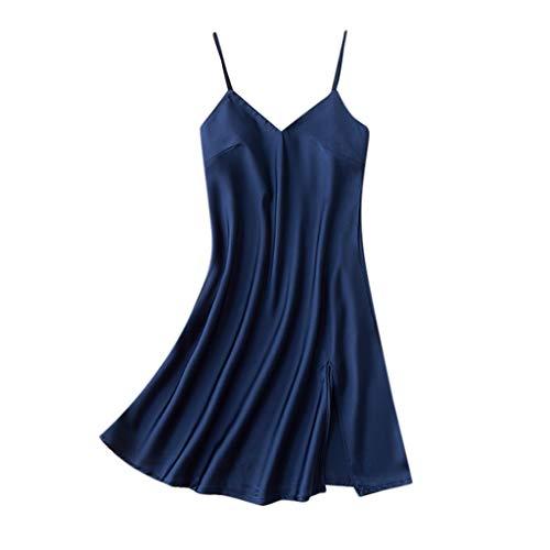 Damen Sexy Pyjamas FGHYH Frauen Sexy Kleid Nachthemd Nachtwäsche Nachtwäsche(L, Navy)