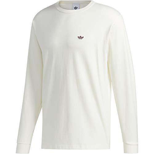 adidas Shmoo Longsleeve T-Shirt Camiseta para Hombre, Blanco/Negro, XX-Small