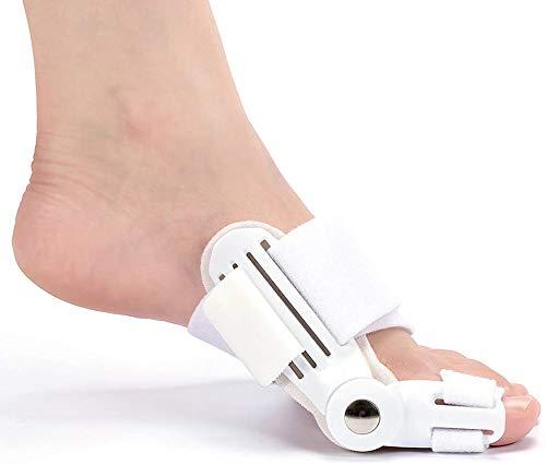 Corrector de juanetes, 2 unidades, almohadillas ortopédicas Hallux Valgus, separador de dedos Big Bunion – Ajustable, para hombres y mujeres