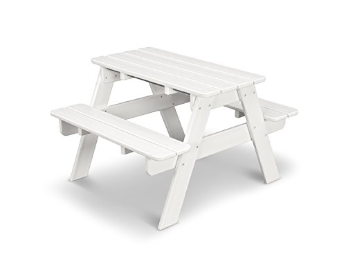POLYWOOD KT130WH Kids Picnic Table White