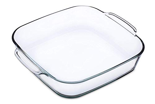 Simax Clear Glass Roaster | Heat, Cold and Shock Proof, Made in Europe, 1.5 Quart, Square