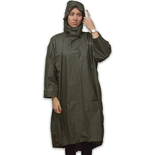 LOWID Outdoor Poncho de pluie – Imperméable (colonne d'eau 7000 mm), Gris, XL