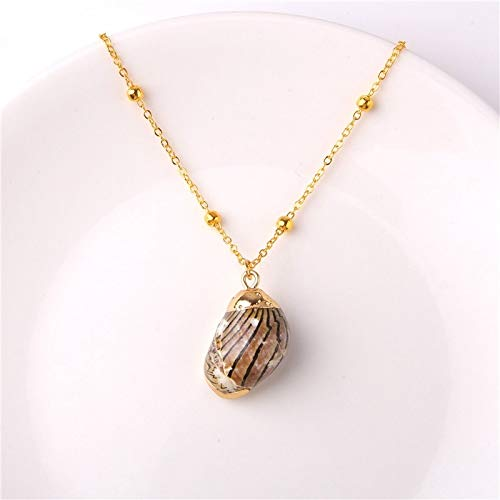 Dfgh Shell Ketting Sea Beach Shell Hanger Collier for Vrouwen Cowrie Zomer sieraden Bohemian (Metal Color : 18)
