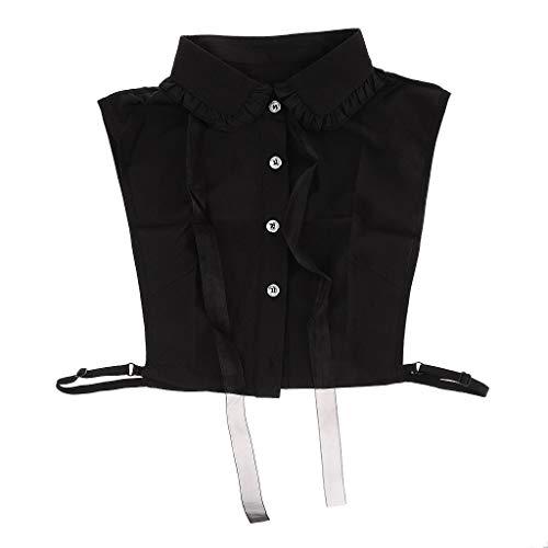 Valse kraag choker blouse Peter Pan afneembare revers overhemd nep kraag - stijl 4-zwart, zoals beschreven