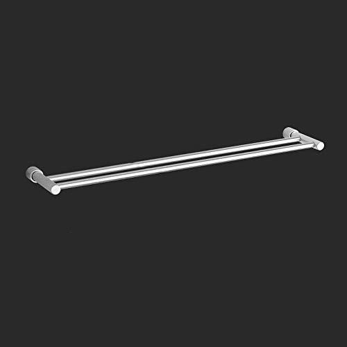 Badkamerrekplank, aan de muur gemonteerde ruimte Aluminium badkamer dubbelpolige handdoekenrek, Stijlvolle en eenvoudige badkamerhanddoekopbergrek, Anticorrosieve antiroest Badkamerhanddoekstang (maat: 60 cm)